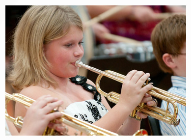 girl trumpet lessons for school
